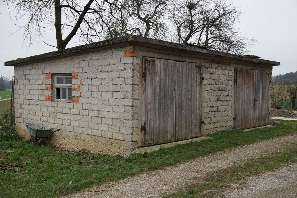 Bau einer kleinen Garage
